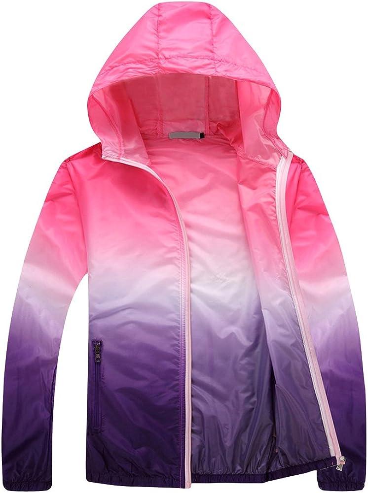 Tortor 1Bacha Women's Gradational Print Hooded Windbreaker UV Sun Protection Jacket