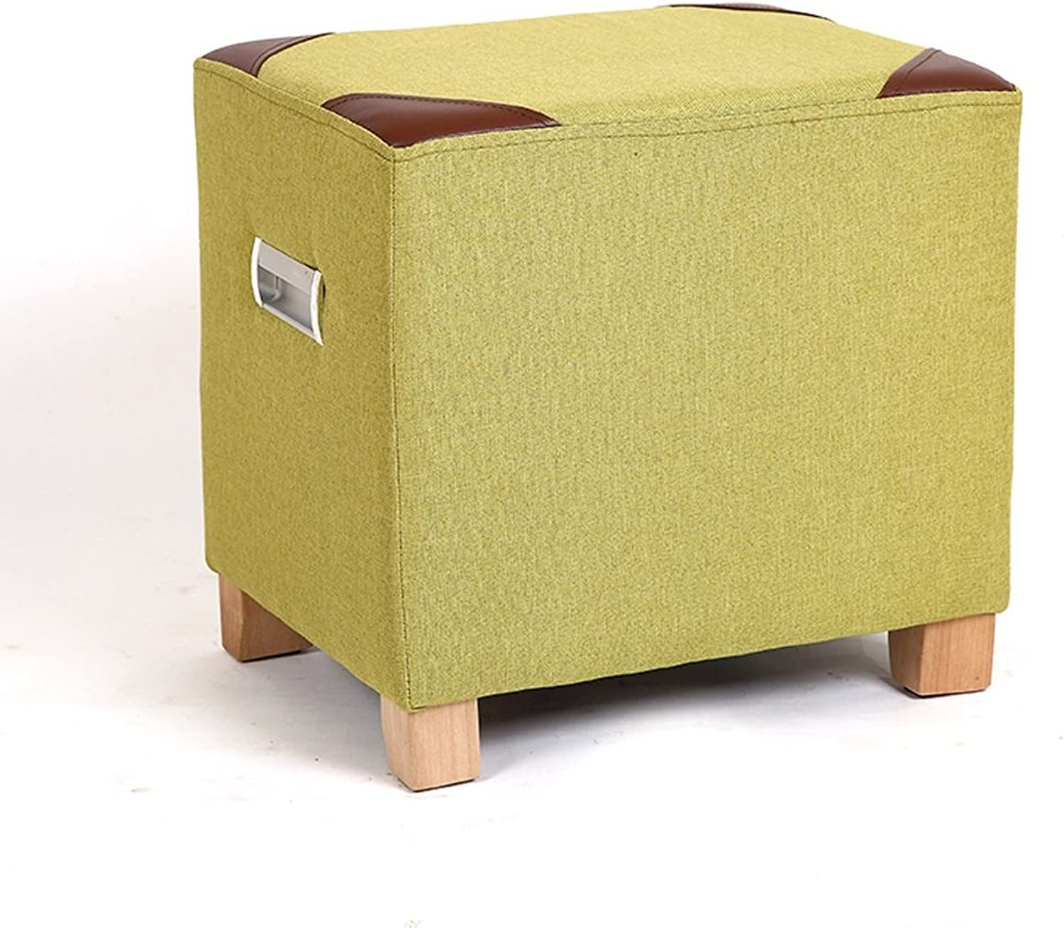 Simple and Modern shoes Bench Fashion Sofa Stool Footstool Living Room Coffee Table Stool (color   Green)