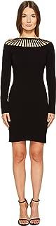 Women's Long Sleeve Cut Out Neck Dress