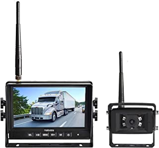 Haloview MC7108 Wireless Backup Observation Camera System 7'' 720P HD Digital Monitor Built in DVR and IP69K Waterproof Rear View Reverse Camera Kit for Truck/Trailer/Bus/RV/Pickups/Camper/Van/Farm