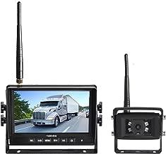Haloview MC7108 Wireless Backup Observation Camera System 7'' 720P HD Digital Monitor Built in DVR and IP69K Waterproof Rear View Reverse Camera Kit for Truck/Trailer/Bus/RV/Pickups/Camper/Van/Farm