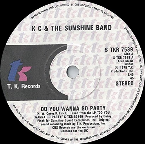KC AND THE SUNSHINE BAND - DO YOU WANNA GO PARTY - 7' VINYL
