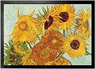1art1 Vincent Van Gogh   Stillleben Mit Sonnenblumen, 1888 Fußmatte Innenbereich und Außenbereich | Design Türmatte 70 x 50 cm