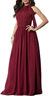 Women Cleb Prom Formal Casual Party Cocktail Wedding Evening Sleeveless Ruched Neck High Waist Chiffon Plus Size Dress