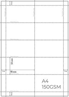 Cartes perforées OfficeGear (paquet de 550) pour badges d'identification imprimables 90mm x 54mm ou 9cm x 5,4cm - Carte A4...