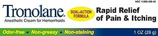 LEE PHARMACEUTICAL Tronolane Dual Action Anesthetic Cream For Hemorrhoids 1 Ounce