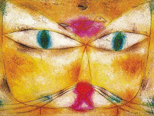 1art1 Paul Klee - Katze Und Vogel, 1928 Poster Kunstdruck 80 x 60 cm