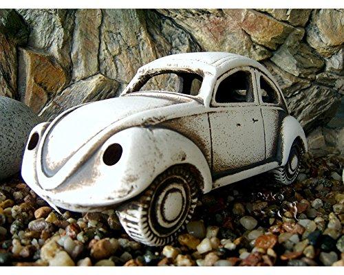 ZooPaul Deko Aquarium Käfer Höhle Steine Räder Keramik Dekoration Auto DDR Wrack Fische