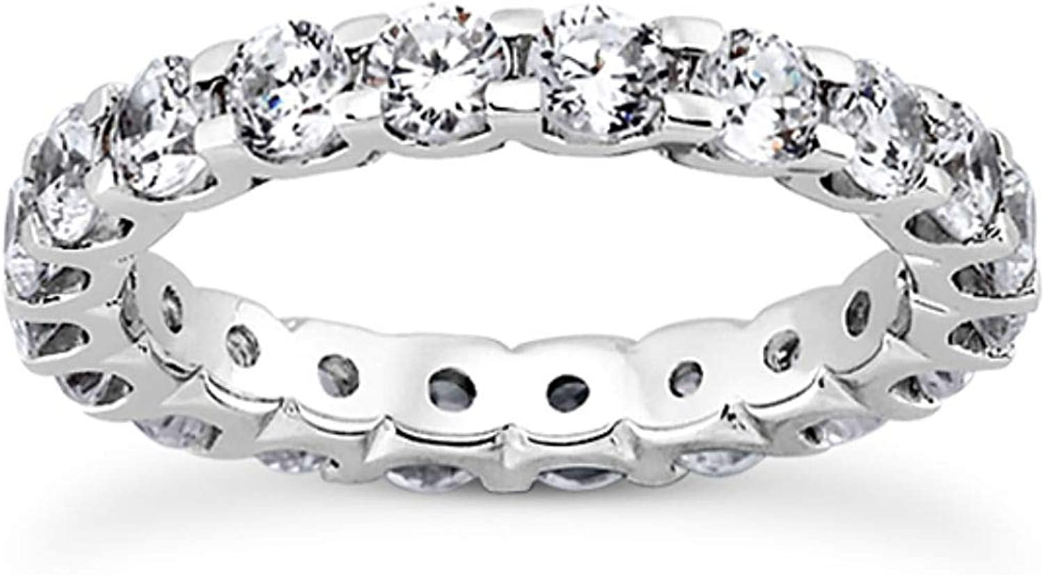 3.50 Carat Total Weight Direct store U Shape 5 ☆ very popular Shared Low Set Prong Roun Ladies