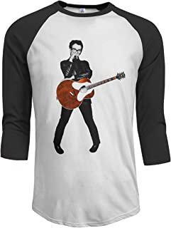 Elvis Costello Mens 3/4 Sleeve Basebal T-Shirt Casual Tee Tops