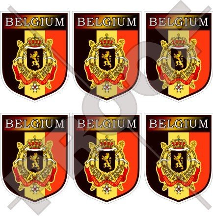 Belgique Belge Shield Belgique, België 40 mm (40,6 cm) Téléphone Mobile Mini en vinyle autocollants, Stickers x6