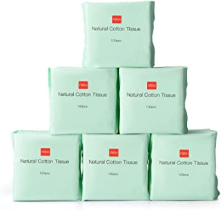 Baby Facial Cotton Tissue,600 Count Baby Dry Wipes Winner Soft Dry Wipes Made of USA Natural Cotton for Sensitive Skin