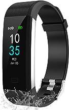 LEBEXY Fitness Armband Schrittzähler, Fitness Tracker mit Herzfrequenzmesser..