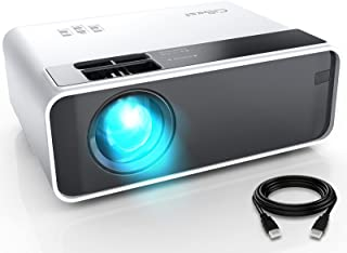 """Mini Projector, CiBest Video Projector Outdoor Movie Projector 7500L, LED Portable Home Theater Projector 1080P and 200"""" S..."""