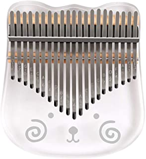$58 » 21-Key Cute Transparent Thumb Piano Kalimba Acrylic Material with Carry Case Tuning Hammer Stickers Cleaning Cloth Finger ...