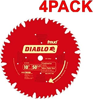 Freud D1050X Diablo 10-Inch 50-tooth ATB Combination Saw Blade with 5/8-Inch Arbor and..