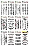12 sheets tribal tramp stamp temporary tattoo Stick on Tattoos for Adults