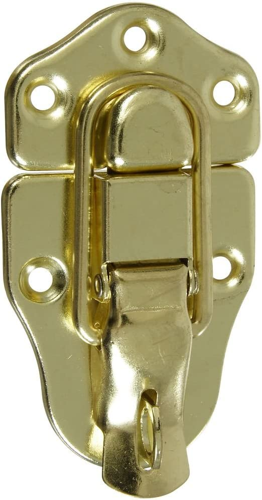 National Hardware N208-603 V1849 Lockable Excellent safety Catche in Draw Brass