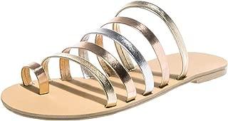 Heaven and Earthv Femenino de la Playa de los Deslizadores de los Zapatos Ocasionales de Las señoras talón Plano Flip Flops Correa Zapatillas Romana de los Zapatos Ocasionales al Aire Libre