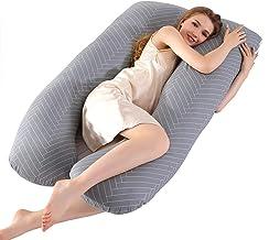 Poduszka do ciała w ciąży zawiera bawełniana poszewka na poduszkę, poduszki ciążowe dla kobiet w ciąży śpiących w pełni wy...