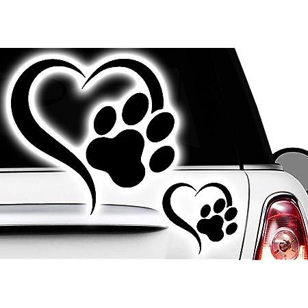 Hr Werbedesign Love Herz Pfote Dog Cat Katzenpfote Hundepfote Xaufkleber Sticker X5 Auto