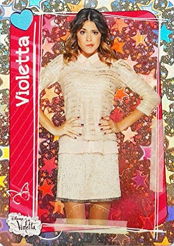 Topps Disneys Violetta 2 - Star-Holo Photo Karten Violetta, Maximilano, Jackie, Diego, Leon und weitere - Activity Glitzer Cards (Violetta #138)