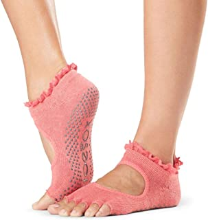 ToeSox Grip Pilates Barre Socks – Non Slip Bella Half Toe for Yoga & Ballet