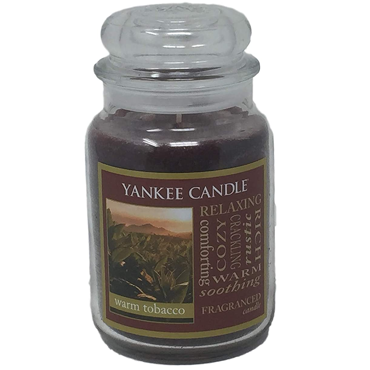 本土バケット眠りYankee Candle WarmタバコJar Candle?–?22?oz Largeサイズ