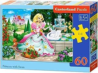 Castorland Princess With Swan, Multi-Colour, B-066056, 60 Piece