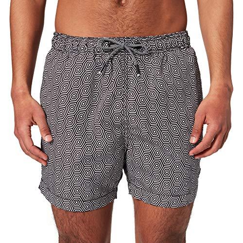 Superdry SD Studios Swim Short Pantaloncini da tavola, Mono Hex Black, L Uomo