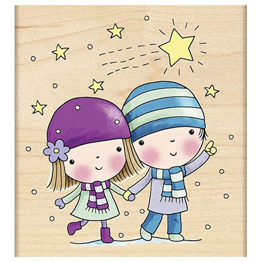 Penny Black 4282J Star Gazing Wood Mounted Rubber Stamp