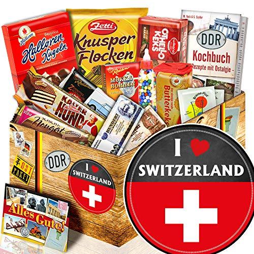 I love Switzerland / Ost Paket + Süßigkeiten / Geschenk Schweiz
