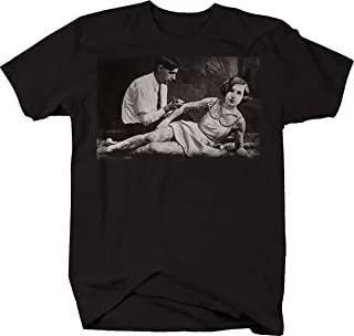 Vintage Tattooed Lady Sexy Pinup Art Tattoo Retro Graphic T Shirt for Men