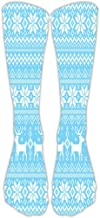 Shusuen Womens 3D Print Knee-High Socks Leg Warmer Dresses High Stockings Christmas Cosplay Socks
