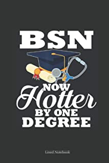 BSN Now Hotter By One Degree Nurse Graduation: nursing memory notebook, sment report journal for nursing student, future n...