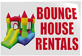 Bounce House Rentals #1 Indoor Store Sign Vinyl Decal Sticker - 14.5inx36in,