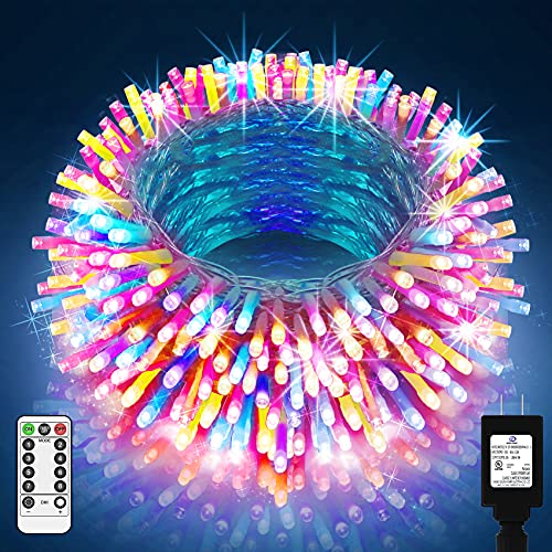 Outdoor Christmas Lights 1000 LED 394ft Super Long Christmas Lights 8 Modes & Timer Fairy Light Plug in Waterproof LED String Lights for Xmas Tree Wedding Holiday Party Thanksgiving Decoration