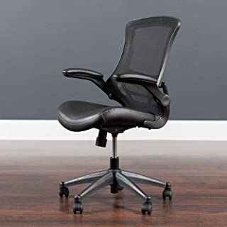 Flash Furniture Desk Chair with Wheels | Swivel Chair with Mid-Back Black Mesh and..