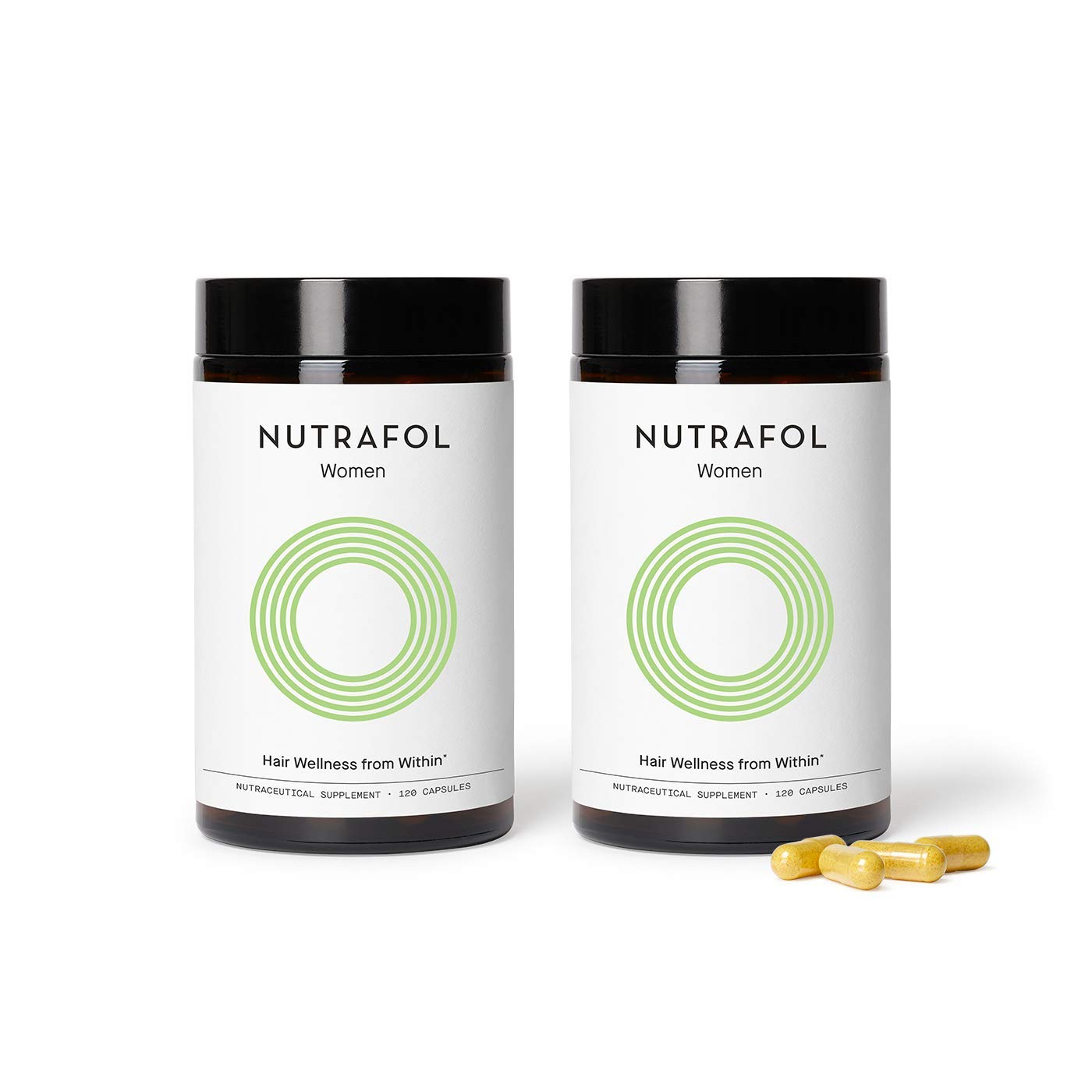 Nutrafol Women Hair Growth For Thicker, Stronger Hair (4 Capsules Per Day) (2 Months Supply)