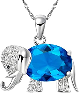 Rainbow Mystic Topaz Lucky Elephant Pendant Necklace Mother Gifts Day N1154