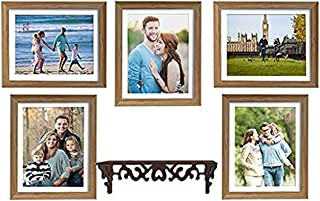 Art Street Photo Frame For Wall Set of 5 Brown Picture Frame with MDF Shelf For Home and Office Decoration , Free Hanging ...