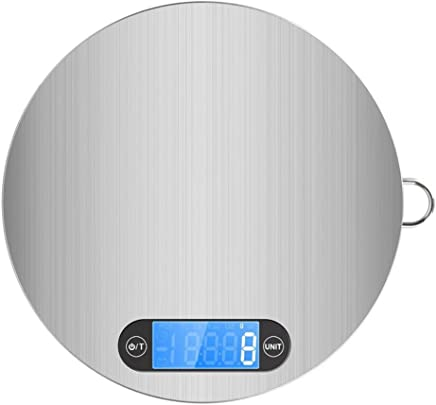 Kitchen Scales by Ibeston, Digital Electronic Cooking Food Scale, Weighing for 11lb/5KG Accurate Gram LCD Display and Easy Storage