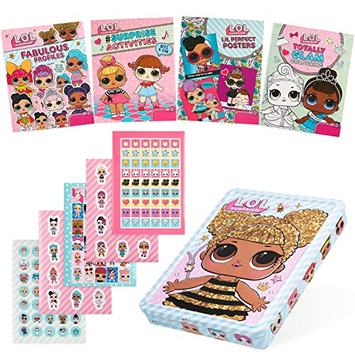 L.O.L. Surprise! LOL Colouring Book and LOL Stickers, Activity Tin with LOL Poster Book and Profiles, LOL Gifts for Girls