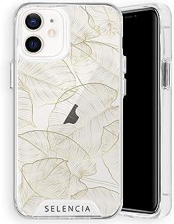Selencia compatibel met iPhone 12 Mini Hoesje – Zarya Fashion Extra Beschermende Back Cover Case in Gold Botanic – Telefoo...