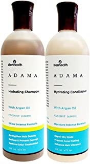 Adama Minerals Shampoo and Conditioner Set 16 oz (Hydrating Coconut Jasmine)