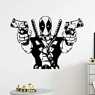 Deadpool Marvel 3D Torn Hole Ripped Wall Sticker Decal Home Decor Art WT109