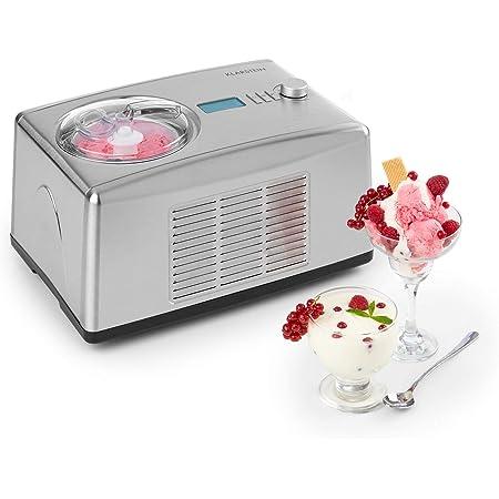 KLARSTEIN Yo & Yummy - Sorbetière & yaourtière 2-en-1, Glace en 5 à 60 Minutes, Puissance absorbée de Seulement 150 Watts, Transforme Le Lait en Yaourt Frais à 42 °C en 4 à 24 h