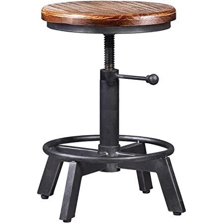 Industrial Bar Stool Swivel Tractor Seat Rustic Counter Chair Height Adjustable
