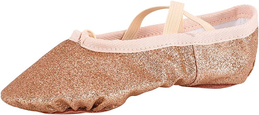 MSMAX Ballet Shoes Wedding Party Dance Flats for Girls (Toddler/Little Kid/Big Kid)