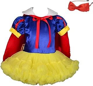 Lito Angels Girls' Princess Snow White Costume Halloween Fancy Dresses Fluffy Tutu W/Cape + Headband